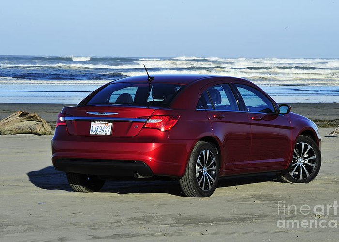 Chrysler Greeting Card featuring the photograph Chrysler At Beach by Jack Moskovita