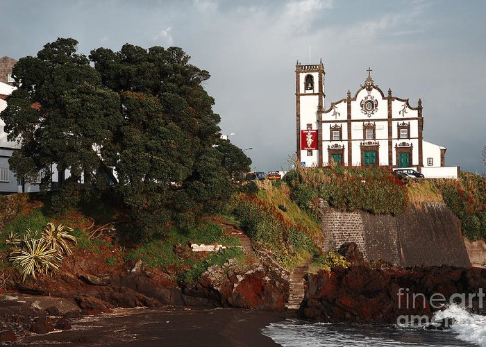 Church Greeting Card featuring the photograph Church By The Sea by Gaspar Avila
