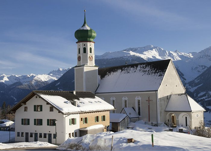 Winter Greeting Card featuring the photograph Church In Winter by Matthias Hauser