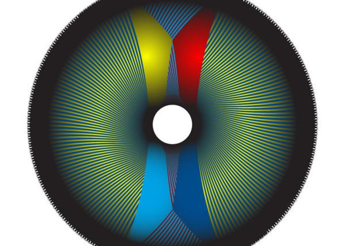 Multi-colored Greeting Card featuring the digital art Circle Study No. 2 by Alan Bennington