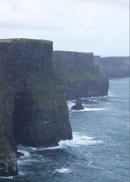 Ireland Greeting Card featuring the photograph Clifts Of Moher by Cathryn Brown
