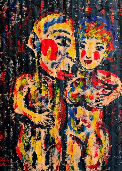Couple Greeting Card featuring the painting Closeness by Natalie Holland
