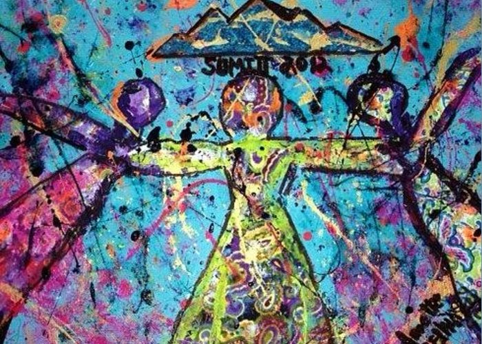 Women Greeting Card featuring the painting Coca Summit 2012 by Annette McElhiney