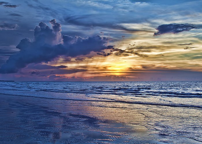 Beach Greeting Card featuring the photograph Color Of Light by Douglas Barnard