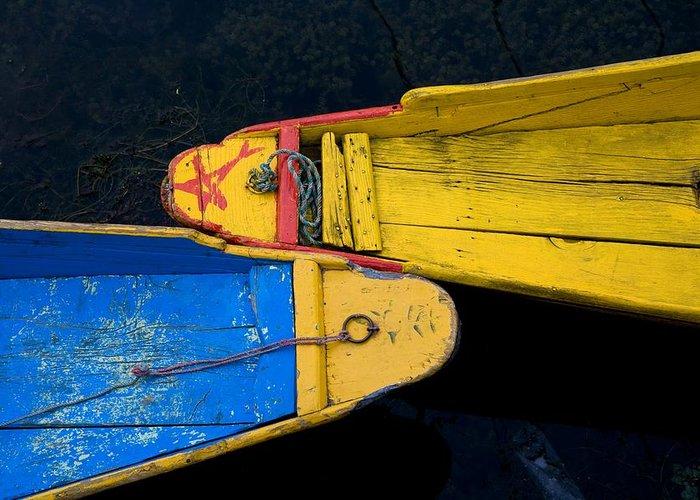 Boat Greeting Card featuring the photograph Colorful Boats, Srinagar, Dal Lake by David DuChemin