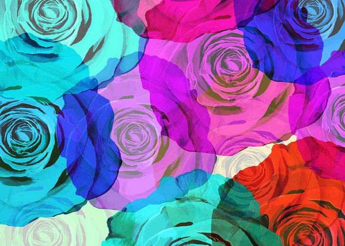 Affection Greeting Card featuring the photograph Colorful Roses Design by Setsiri Silapasuwanchai
