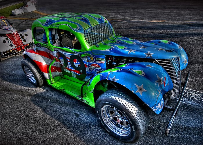 Ledgend Car Greeting Card featuring the photograph Colors by Craig Incardone