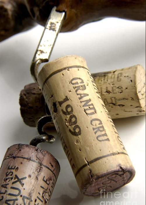 Cork Greeting Card featuring the photograph Corks Of French Wine by Bernard Jaubert