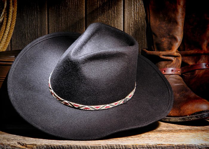 American Greeting Card featuring the photograph Cowboy Hat by Olivier Le Queinec