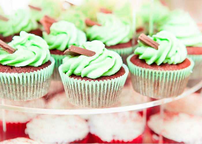 Bake Greeting Card featuring the photograph Cup Cakes by Tom Gowanlock