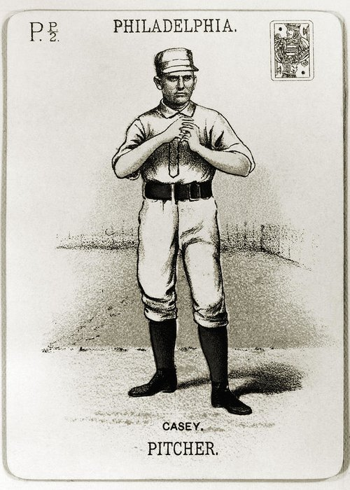 1888 Greeting Card featuring the photograph Dan Casey (1862-1943) by Granger