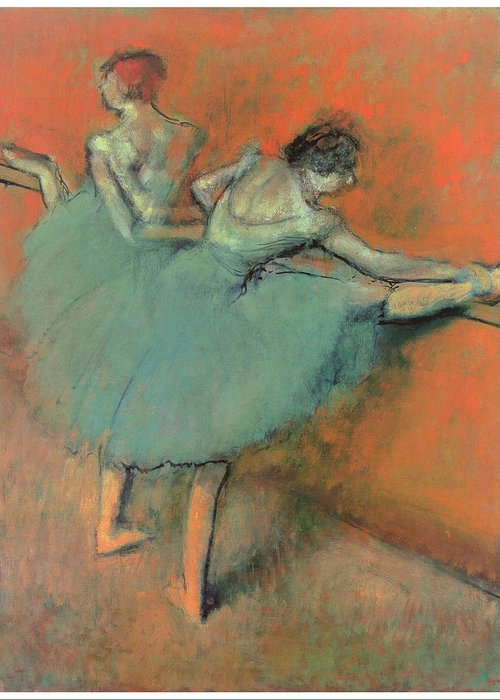 Dancers At The Bar Greeting Card featuring the painting Dancers At The Bar by Edgar Degas