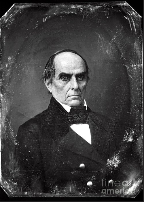 Daniel Webster Greeting Card featuring the photograph Daniel Webster by Photo Researchers