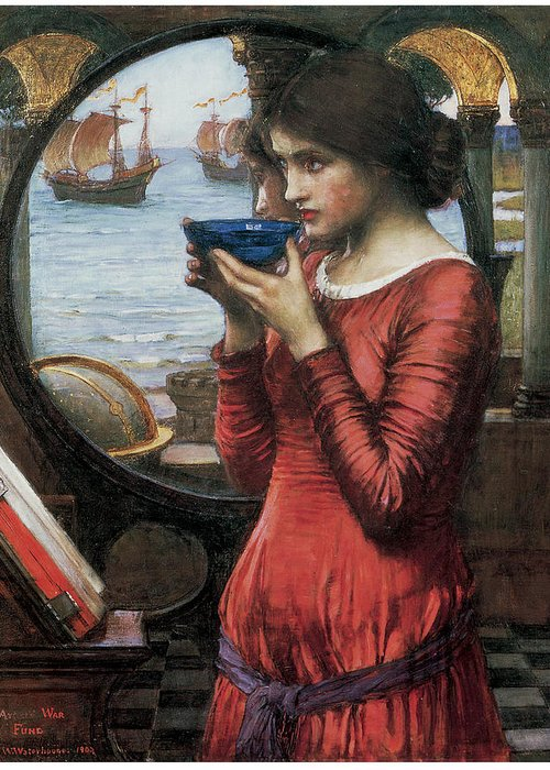 John William Waterhouse Greeting Card featuring the painting Destiny by John William Waterhouse
