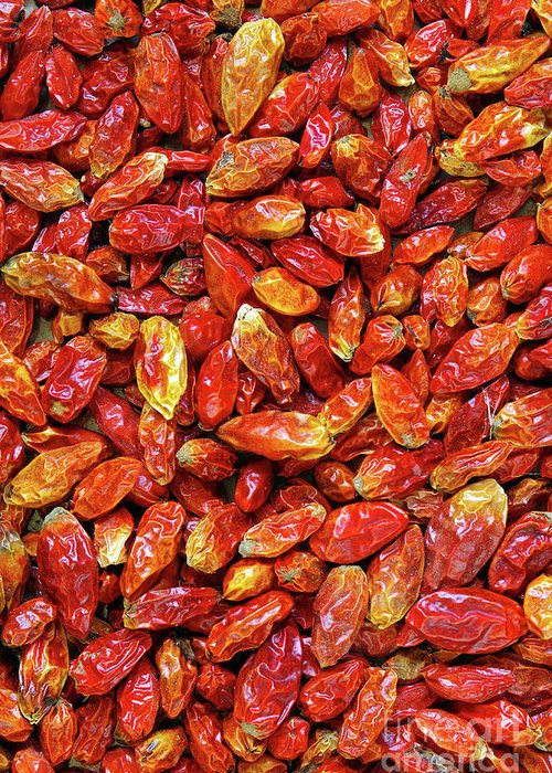 Asian Greeting Card featuring the photograph Dried Chili Peppers by Carlos Caetano
