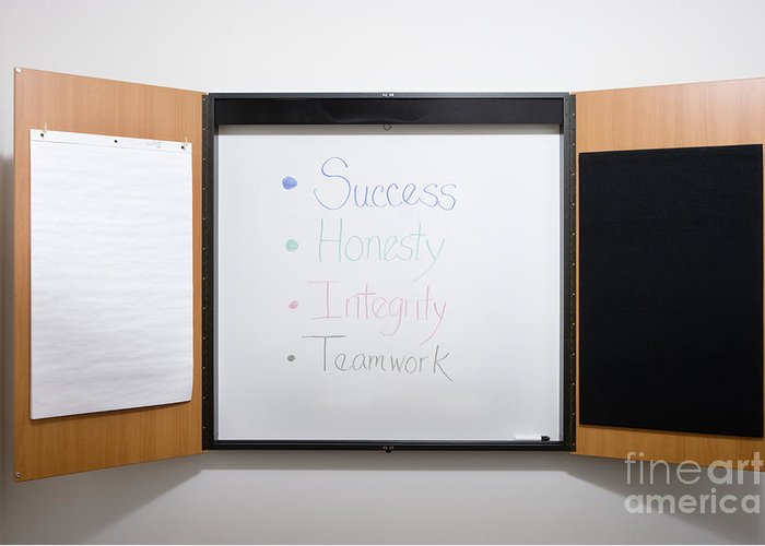 Affirmations Greeting Card featuring the photograph Dry Erase Board by Andersen Ross