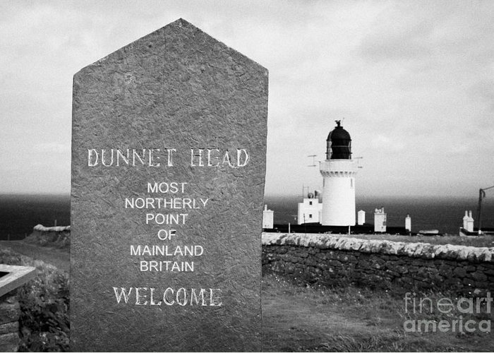 Dunnet Greeting Card featuring the photograph Dunnet Head Most Northerly Point Of Mainland Britain Scotland Uk by Joe Fox