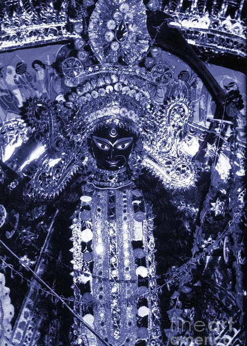 Durga Greeting Card featuring the photograph Durga by Photo Researchers