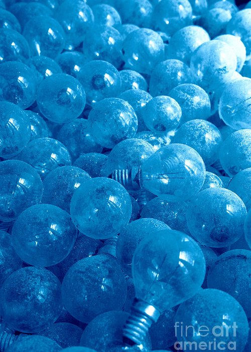 Lights Greeting Card featuring the photograph Dusty Light Bulbs by Gaspar Avila