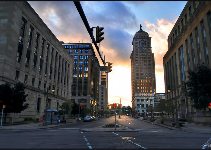 Greeting Card featuring the photograph Early Morning Court Street by Michael Frank Jr