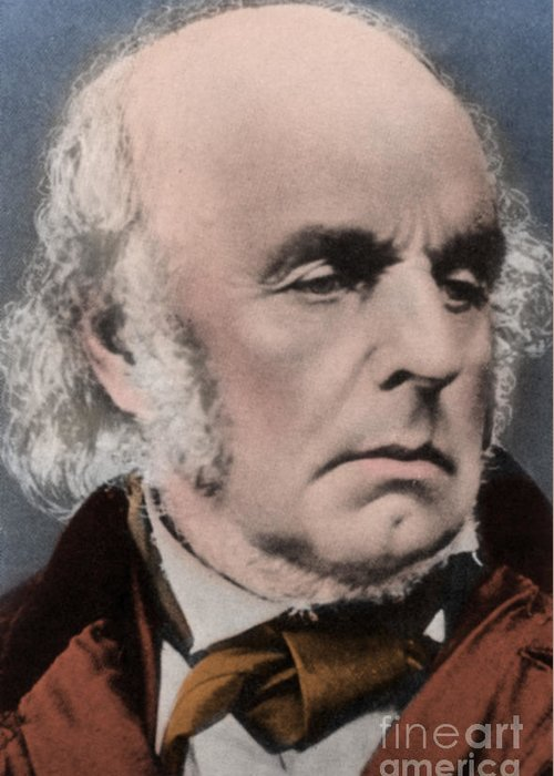 Author Greeting Card featuring the photograph Edward Fitzgerald by Science Source