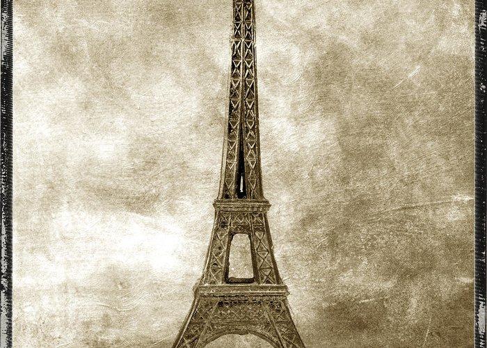 Texture Greeting Card featuring the photograph Eiffel Tower. Paris by Bernard Jaubert
