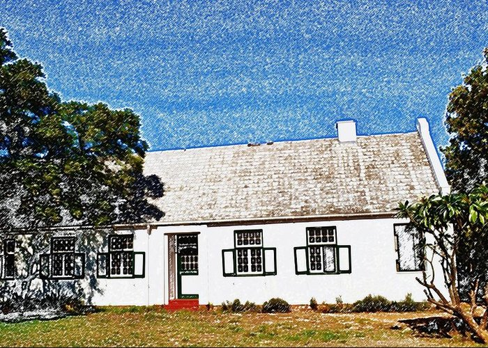 Photoshop Greeting Card featuring the photograph Farm House by Werner Lehmann