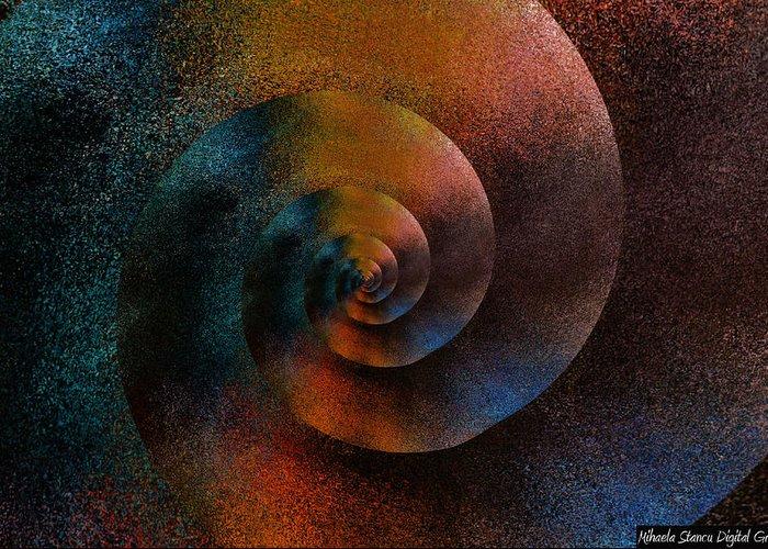 Greeting Card featuring the digital art Figurative Shells by Mihaela Stancu