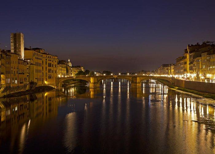 Bridge Greeting Card featuring the photograph Florence - Ponte San Trinita by Joana Kruse