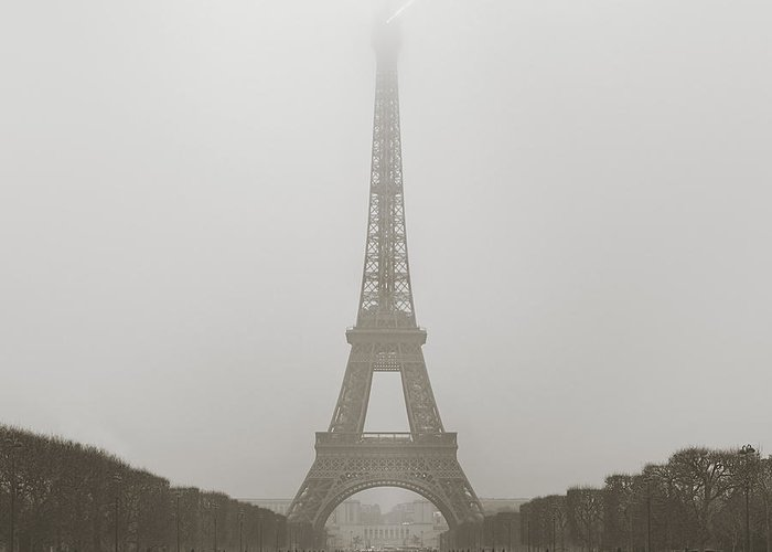 Metro Greeting Card featuring the photograph Foggy Morning In Paris by Metro DC Photography