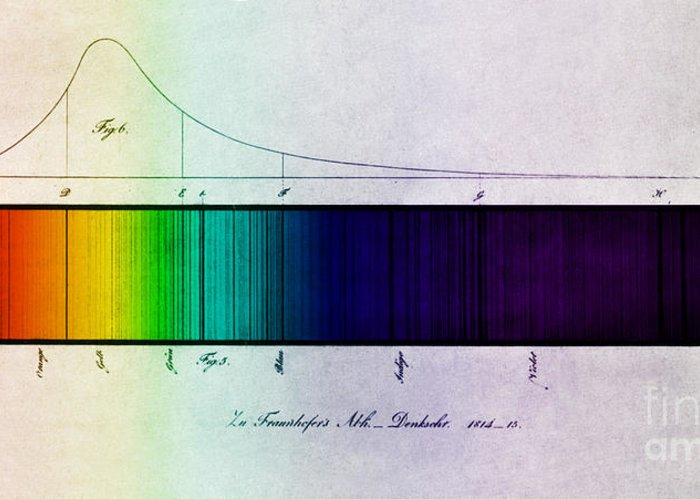 Enhanced Greeting Card featuring the photograph Fraunhofer Lines by Science Source