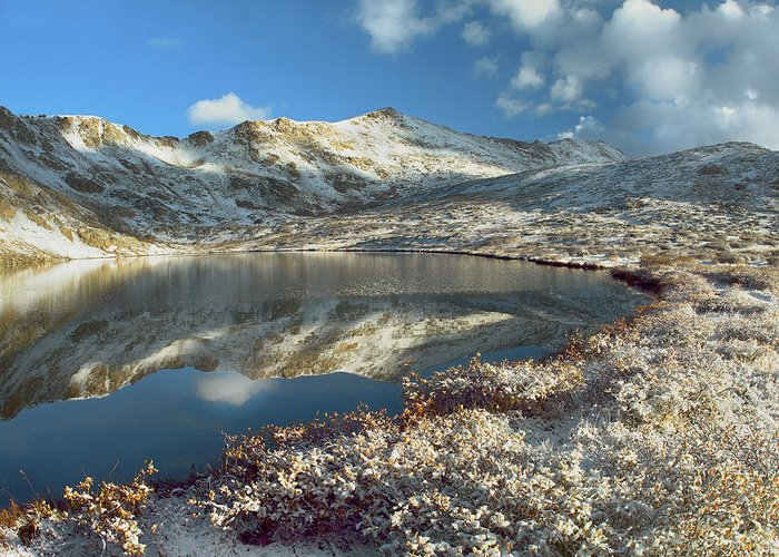 00175572 Greeting Card featuring the photograph Geissler Mountain And Linkins Lake by Tim Fitzharris