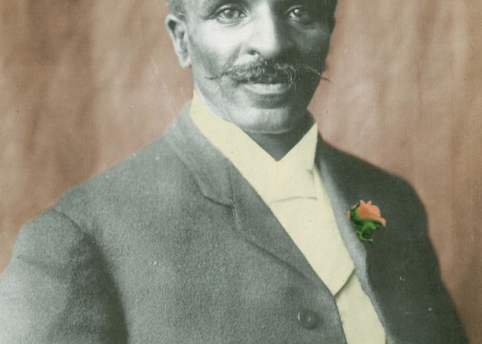Science Greeting Card featuring the photograph George W. Carver, African-american by Science Source