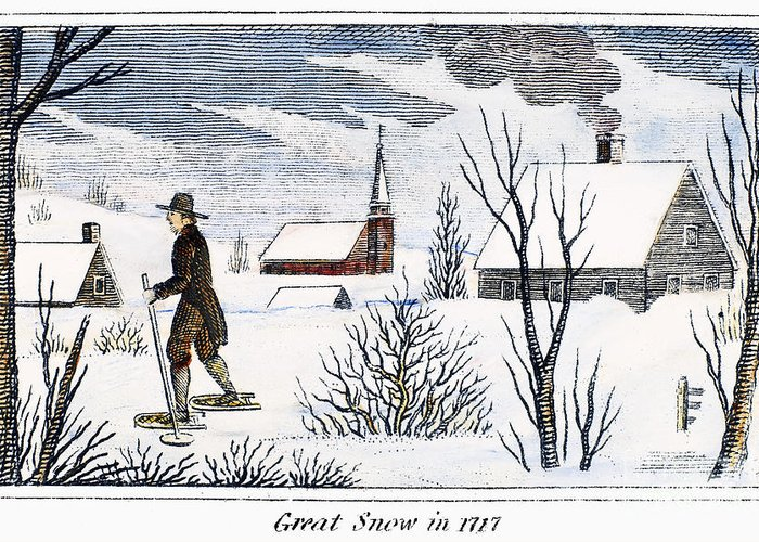 1717 Greeting Card featuring the photograph Great Snow Of 1717 by Granger