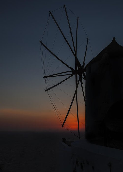 Mill Greeting Card featuring the photograph Greek Windmill by Joana Kruse