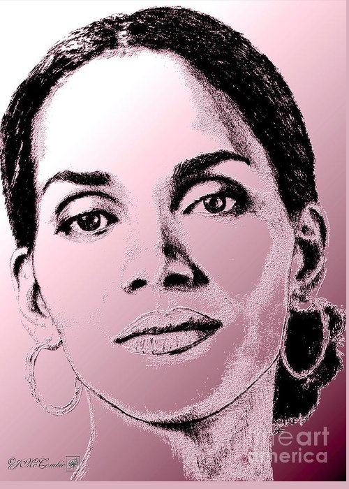 Halle Berry Greeting Card featuring the digital art Halle Berry In 2008 by J McCombie