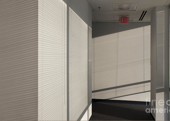 Airy Greeting Card featuring the photograph Hallway Of An Office Building by Will & Deni McIntyre