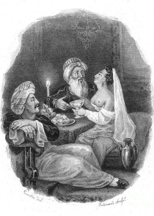 19th Century Greeting Card featuring the photograph Harem by Granger
