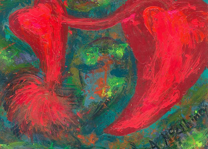 Women Greeting Card featuring the painting Have Hope In Your Heart by Annette McElhiney