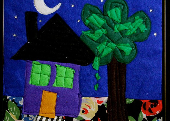 Fabric Greeting Card featuring the tapestry - textile Home by Ghazel Rashid