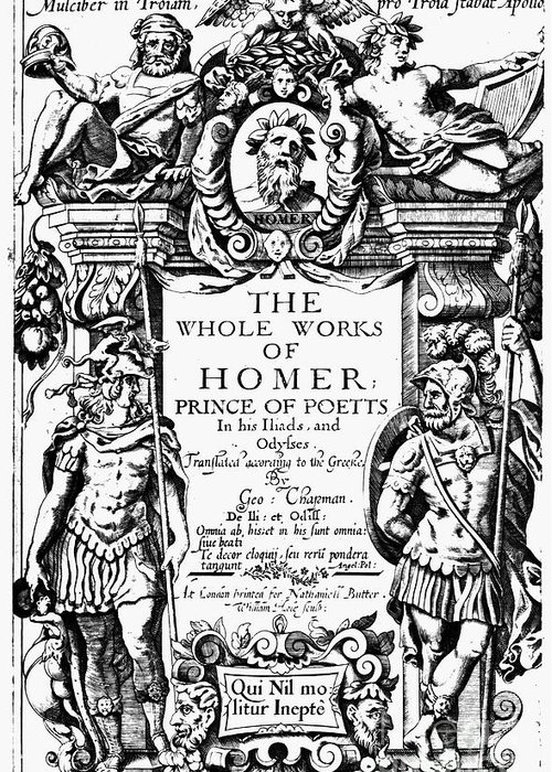 1616 Greeting Card featuring the photograph Homer Title Page, 1616 by Granger