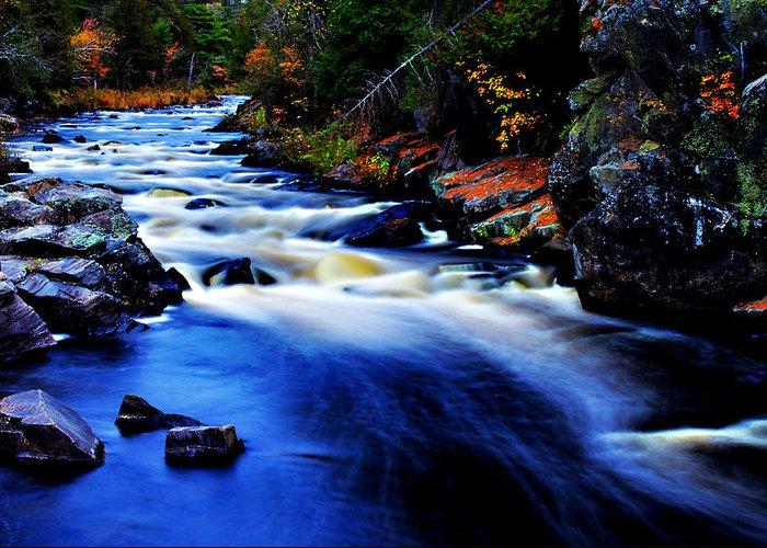 Horserace Rapids Greeting Card featuring the photograph Horserace Rapids by Matthew Winn