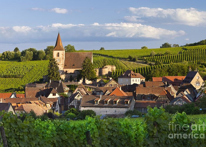 Alsace Greeting Card featuring the photograph Hunawihr Alsace by Brian Jannsen