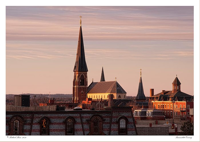 Architecture Greeting Card featuring the photograph Immaculate Evening by Richard Bean