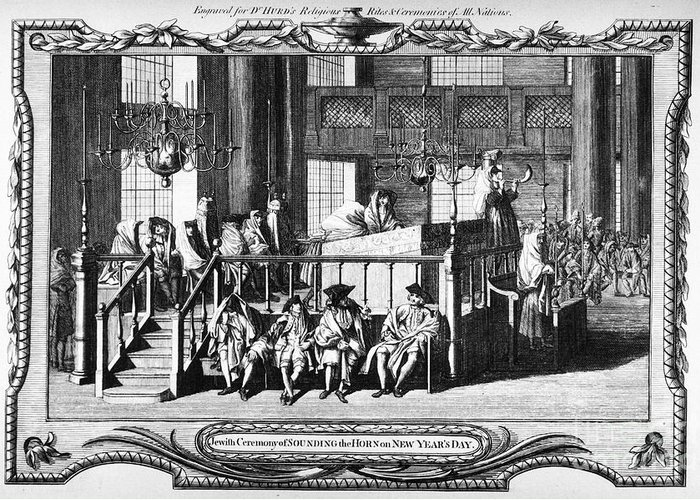 18th Century Greeting Card featuring the photograph Jewish Life, 18th Century by Granger