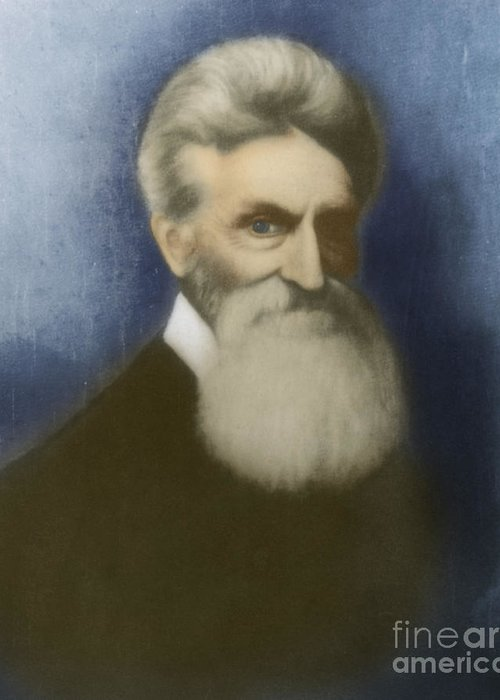 John Brown Greeting Card featuring the photograph John Brown, American Abolitionist by Photo Researchers