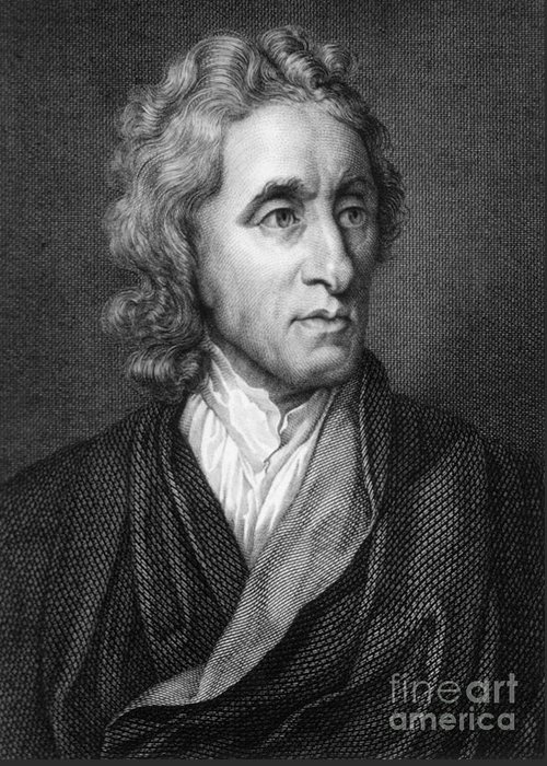 Science Greeting Card featuring the photograph John Locke, English Philosopher, Father by Science Source