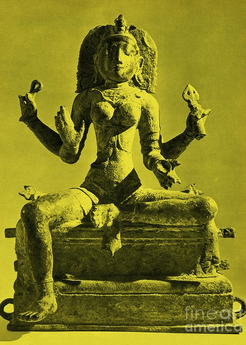 Kali Greeting Card featuring the photograph Kali by Photo Researchers