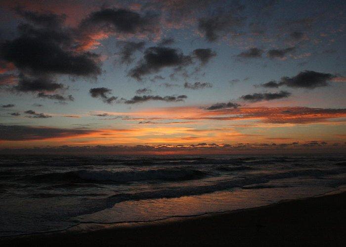 Sunrise Greeting Card featuring the photograph Kill Devil Hills Sunrise by Andrea Stuart-Bishop