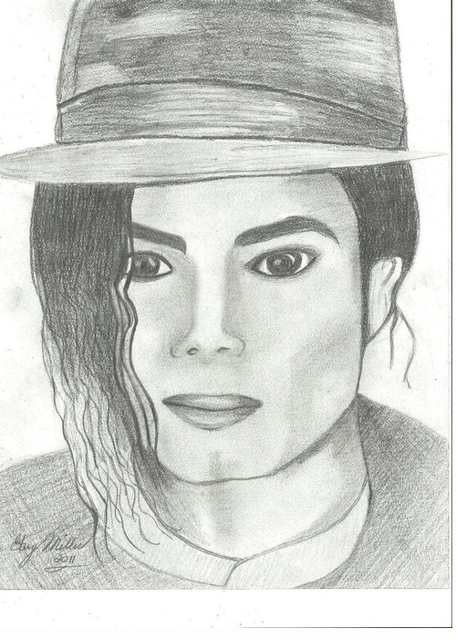 Mj Greeting Card featuring the drawing King Of Pop by Gary Miller